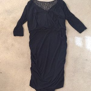 Black figure flattering dress xl